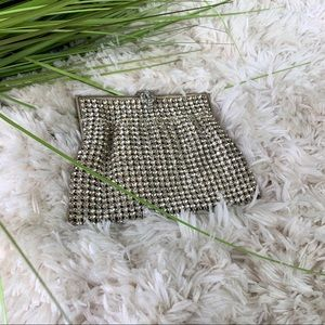 VTG Rhinestone embellished clutch small